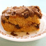 Pumpkin Spice Coffee Cake with Cinnamon Streusel Topping (gluten-free + vegan)