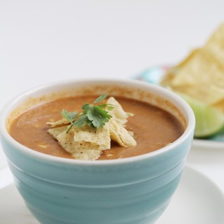 Easy Peasy Blender Tortilla Soup (gluten-free + vegan)