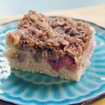 Rhubarb Cake (gluten-free & vegan)