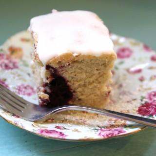 Lemon Blackberry Cake (gluten-free + vegan)