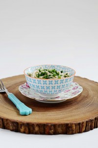 A Photo Of Creamy White Wine Pasta With Spring Vegetables, | juliehasson.com