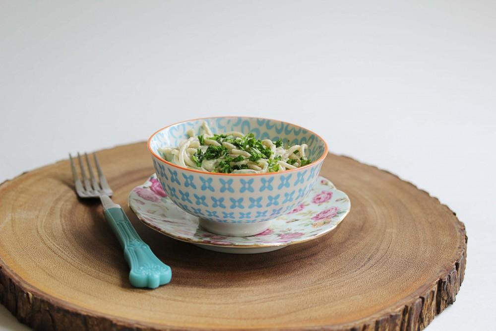 Vegan + Gluten-Free Pasta With Spring Vegetables