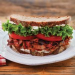 A Photo of Baconish Coconut Bacon BLT|juliehasson.com