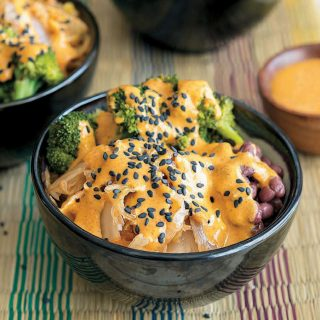 Vegan Bowl Attack Giveaway + Kimchi Bowl with Red Curry Almond Sauce