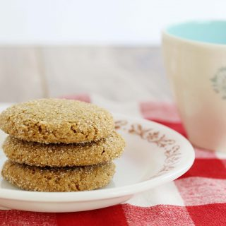 A photo of Gluten-Free Vegan Ginger Molasses Cookies|Julie's Kitchenette