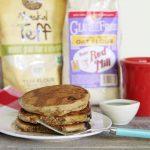 Light and Fluffy Whole Grain Gluten-Free & Vegan Teff Pancakes| Julie's Kitchenette