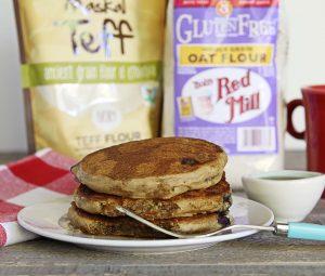 Gluten-Free + Vegan Whole Grain Pancakes | Julie's Kitchenette