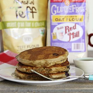 Gluten-Free + Vegan Whole Grain Pancakes | Julie's Kitchenette