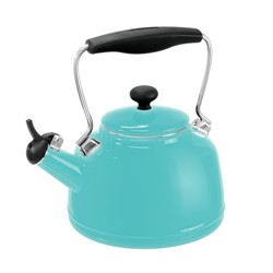 A Photo of Vintage Aqua Teakettle | Julie's Kitchenette