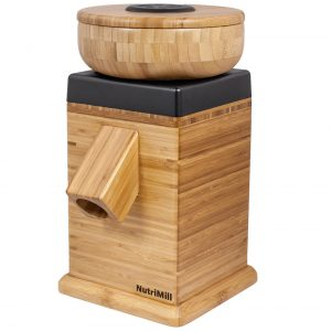 A photo of nutrimill-harvest-grain-mill-black