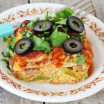Loaded Vegan + Gluten-Free Enchilada Casserole | Julie's Kitchenette