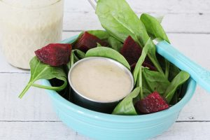 A Photo Of Old-School Style Creamy Italian Salad Dressing | Julie's Kitchenette