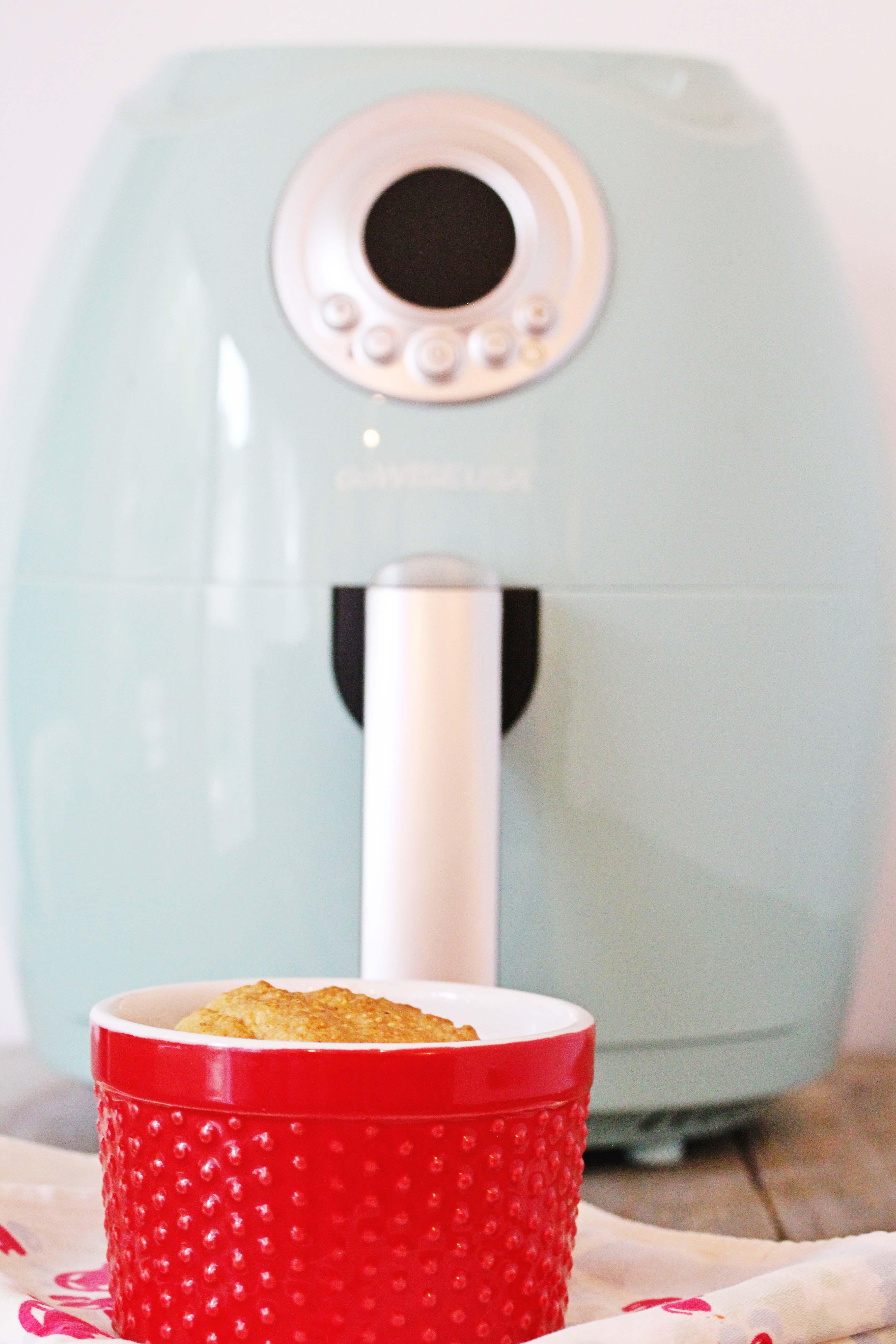 A Photo Of Air Fryer Sweet Rosemary Cornbread Gluten-Free + Vegan | Julie's Kitchenette