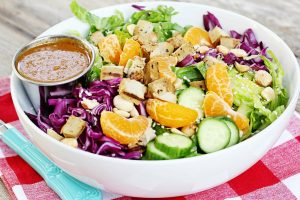 Vegan + Gluten-Free Chinese Chicken Salad | Julie's Kitchenette
