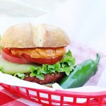 A photo of Vegan Gluten-Free Chipotle Burger | Julie's Kitchenette
