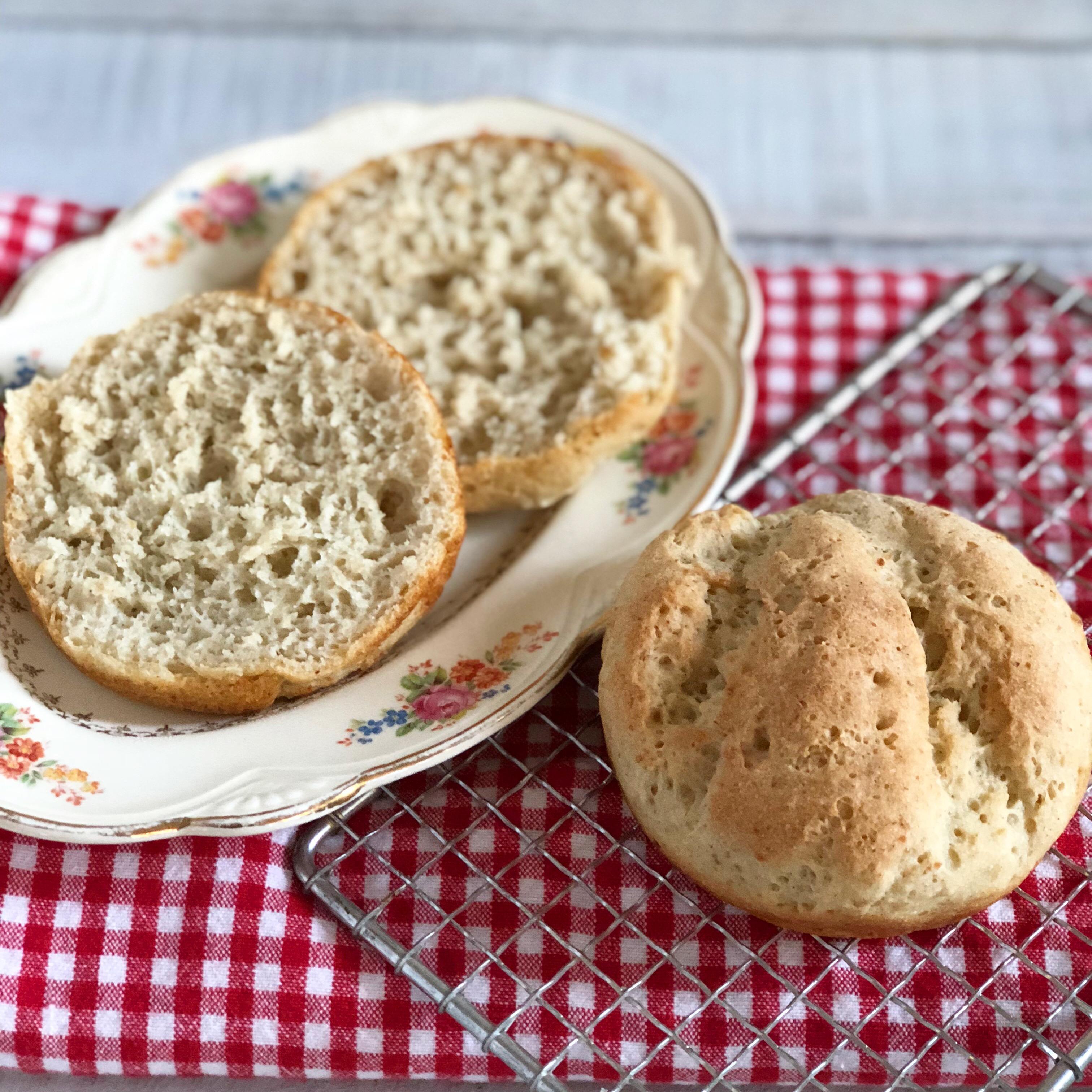 A photo of soft whole grain gluten-free + vegan burger buns | Julie's Kitchenette