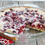 Cranberry Cobbler with Lemon Glaze
