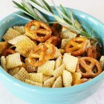 Cheezy Rosemary Garlic Snack Mix