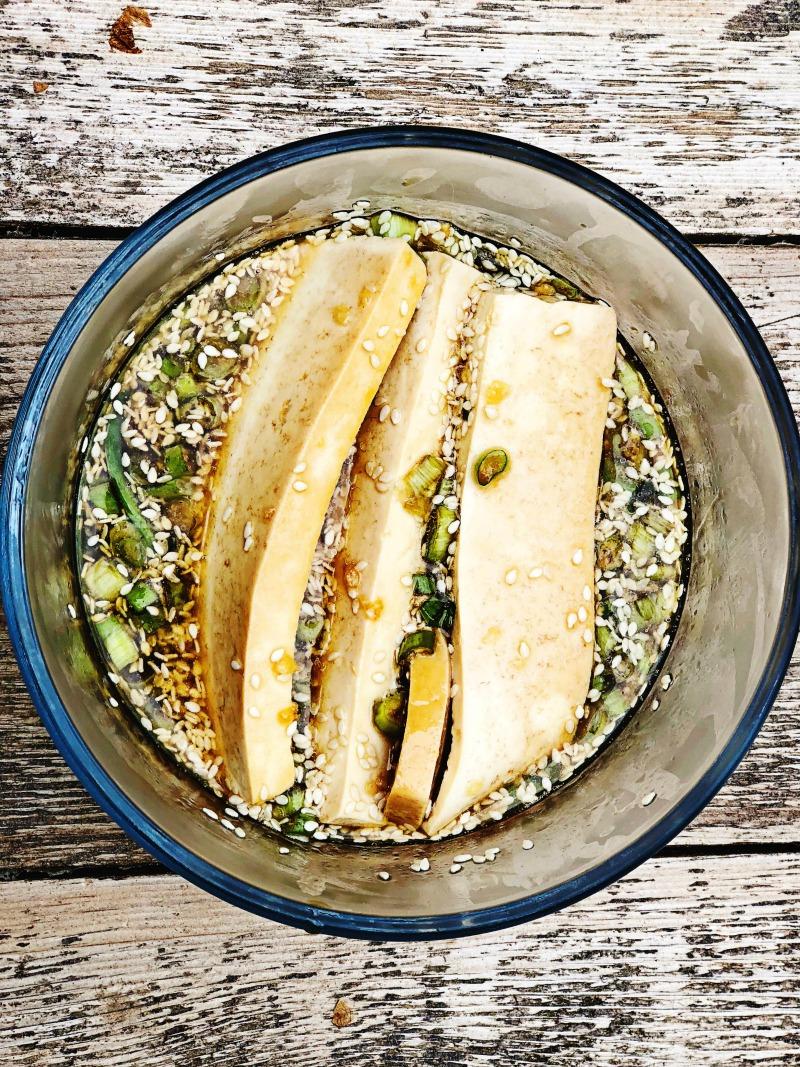 Sesame Garlic Tofu Marinade | Julie's Kitchenette