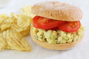 Soy Curl Salad Sandwich | Julie's Kitchenette