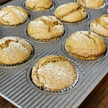 Gluten-Free + Vegan Cinnamon Sugar Pumpkin Muffins | Julie's Kitchenette