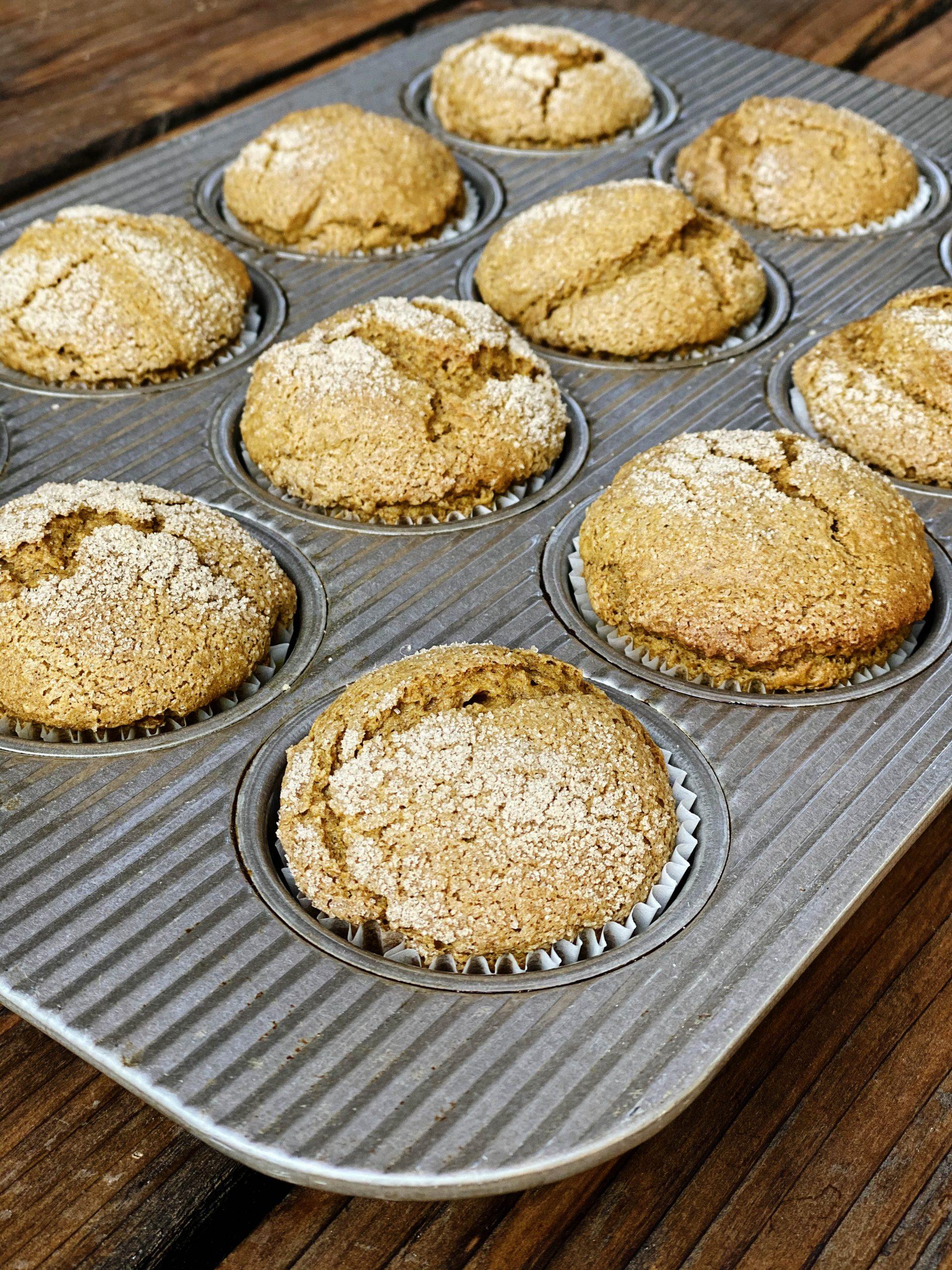 Gluten-Free + Vegan Cinnamon Sugar Pumpkin Muffins | Julie's Kitchenette
