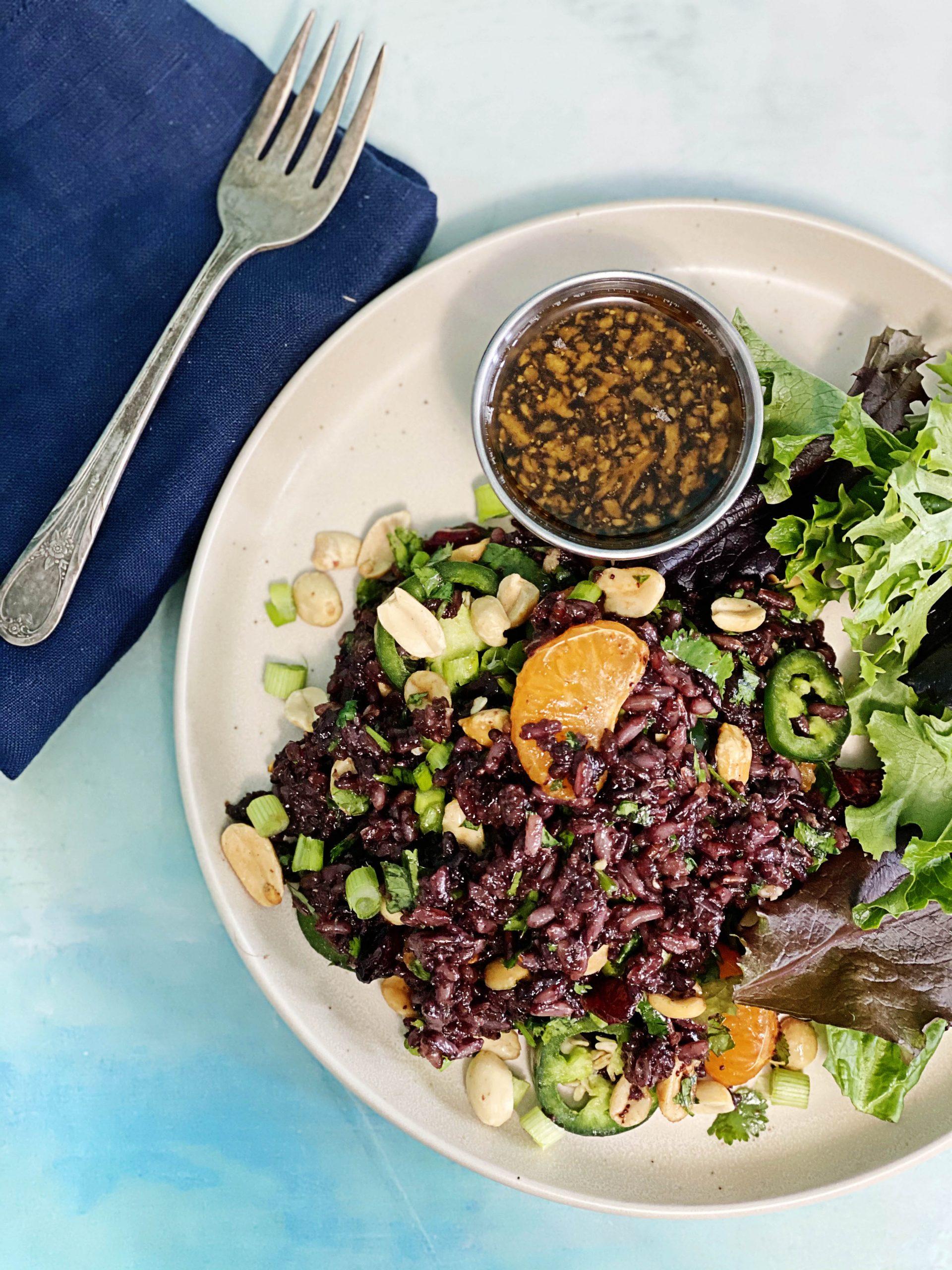 Teff and Black Rice Salad   Julie's Kitchenette