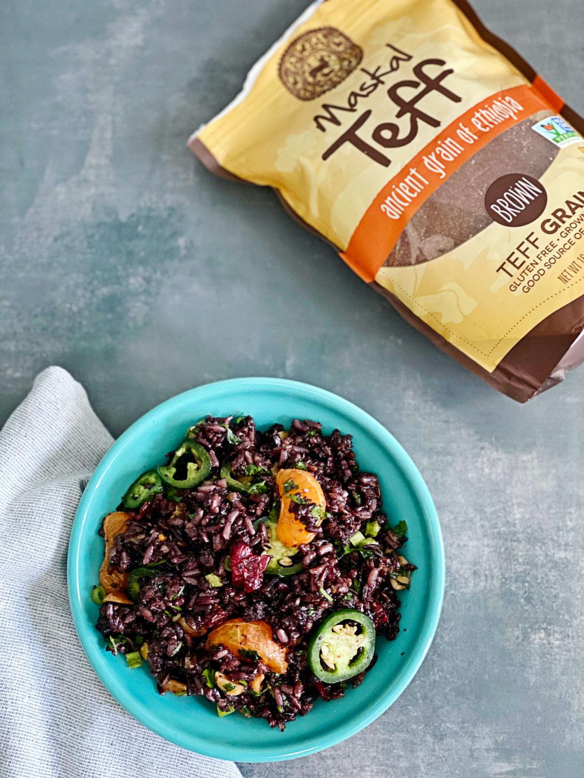 Teff and Black Rice Salad | Julie's Kitchenette